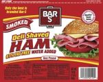 BAR S DELI SHAVED HAM 12/