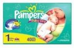 PAMPERS BABY DRY-SZ1 40 CT