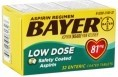 BAYER LOW DOSE 81 MG 32 CT
